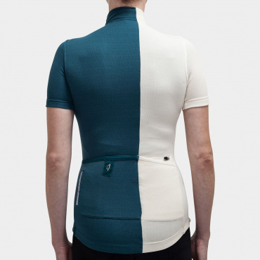 Asymmetric Jersey Atlantic Blue / Antique White