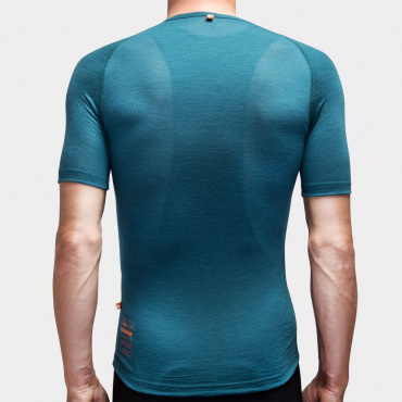 100% Merino SS Baselayer Atlantic Blue